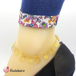 پابند طلایی گل-حلقه