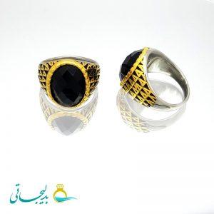 انگشتر مردانه- نگین دار مشکی۲۱۰9