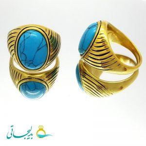 انگشتر مردانه- نگین دار فیروزه ای ۲۱31