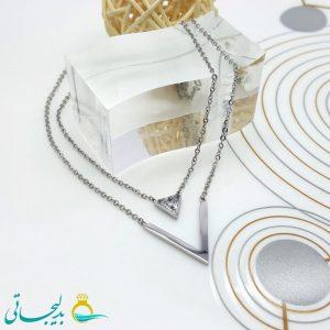 گردنبند-استیل-نگین-دار-طرح-5