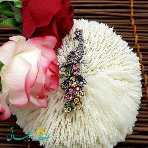 گل سینه _ طرح طاووس FLR-005