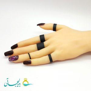 ست انگشتر و بند انگشتی - مشکی RF-02
