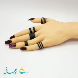ست انگشتر و بند انگشتی - طلایی RF-07