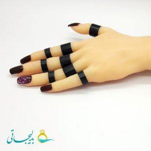 ست انگشتر و بند انگشتی - طلایی RF-08