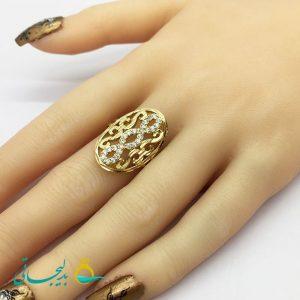 انگشتر زنانه - انگشتر زنانه نگین دار 182