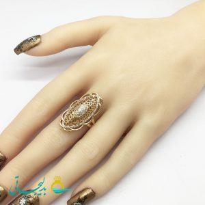انگشتر زنانه - انگشتر زنانه طلایی 184