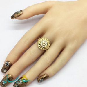 انگشتر زنانه - انگشتر زنانه طلایی 185