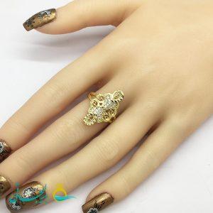 انگشتر زنانه - انگشتر زنانه طلایی 187