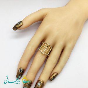 انگشتر زنانه - انگشتر زنانه طلایی 191