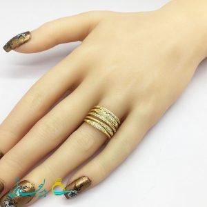 انگشتر زنانه - انگشتر زنانه طلایی 195