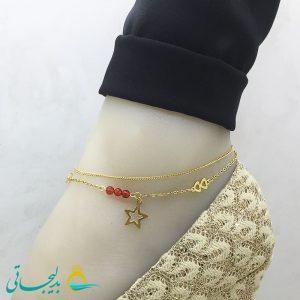 پابند - پابند طلایی- طرح ستاره ftg_149