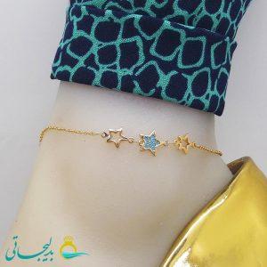 پابند (خلخال) طلایی - طرح ستاره - مارک xy - کد ftg_215