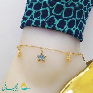پابند (خلخال) طلایی - طرح ستاره - مارک xy - کد ftg_219