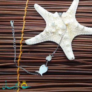 دستبند استیل نقره ای-مدل ماهی