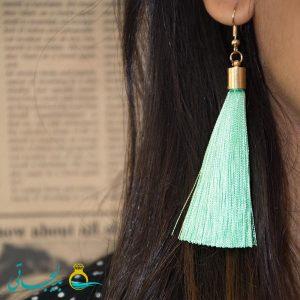 گوشواره نخی-آویزدار رنگی