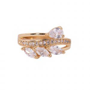 انگشتر زنانه-انگشتر نگین دار طلایی