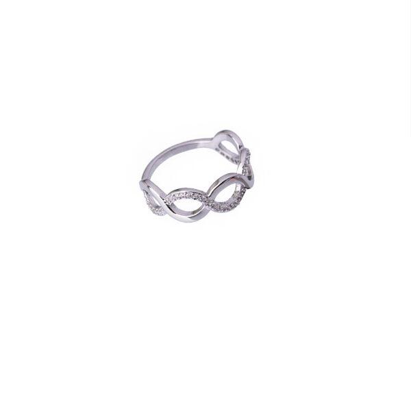 انگشتر زنانه-انگشتر نقره ای مدل 1008