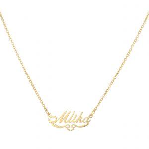 گردنبند اسم-استیل طلایی-انگلیسی-نام ملیکا