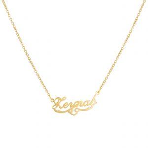 گردنبند اسم-استیل طلایی-انگلیسی-نام زینب