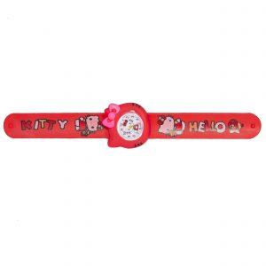 ساعت مچی بچگانه-طرح شخصیت های کارتنی-کیتی(قرمز)