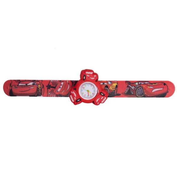 ساعت مچی بچگانه-طرح شخصیت های کارتنی-ماشین ها(قرمز)