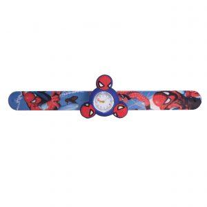 ساعت مچی بچگانه-طرح شخصیت های کارتنی-مرد عنکبوتی(آبی)