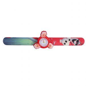 ساعت مچی بچگانه-طرح شخصیت های کارتنی-آنا و السا(قرمز)