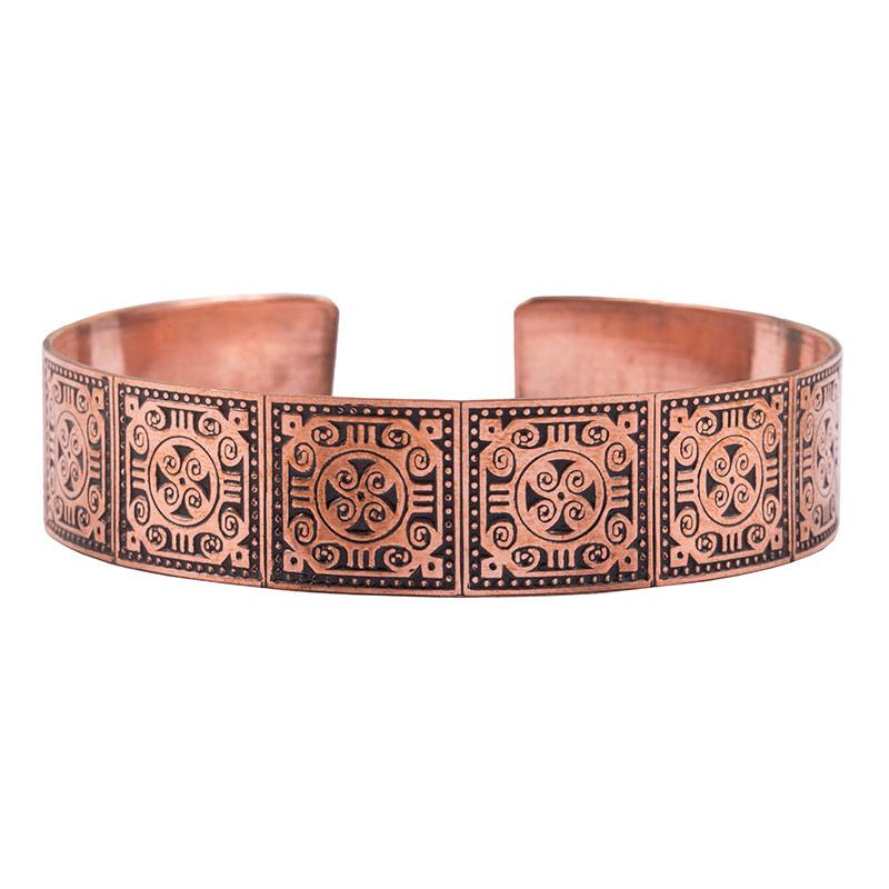 دستبند با طرح سنتی از جنس مس