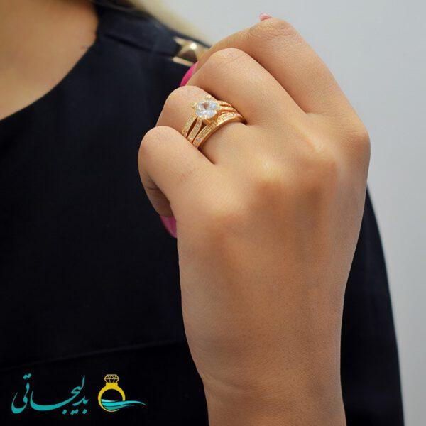 انگشتر زنانه نگین دار مدل 51