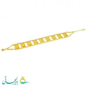 دستبند زنانه طرح طلا-نقش کارشده -مدل 110