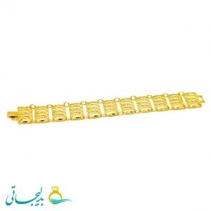 دستبند زنانه طرح طلا-نقش کارشده -مدل 114