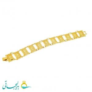 دستبند زنانه طرح طلا-نقش کارشده -مدل 113