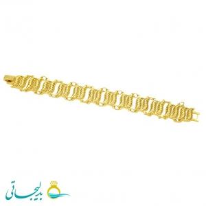 دستبند زنانه طرح طلا-نقش کارشده -مدل 115