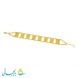 دستبند زنانه طرح طلا-نقش کارشده -مدل 112