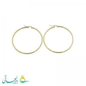 گوشواره آویز حلقه ای طلایی-سایز متوسط- مدل2