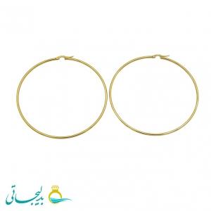 گوشواره آویز حلقه ای طلایی-سایز بزرگ- مدل3