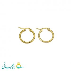 گوشواره حلقه ای طلایی-سایز کوچک