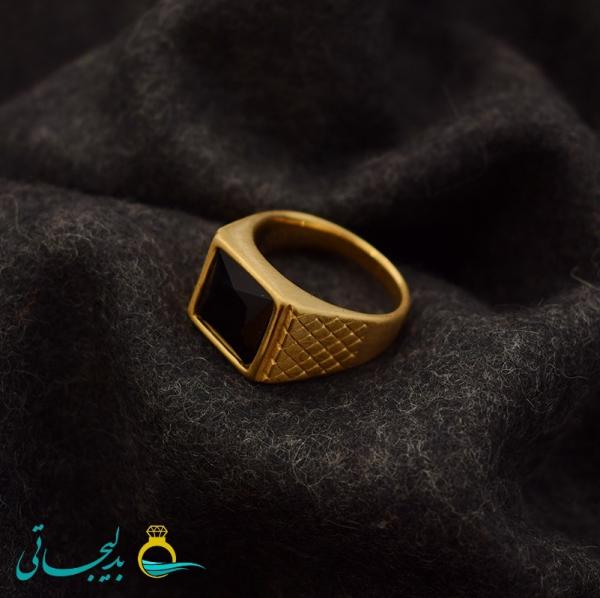 انگشتر مردانه نگین دار- کد 5015