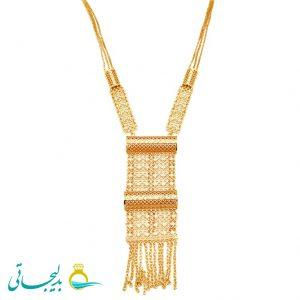 گردنبند طلایی - کد 8327