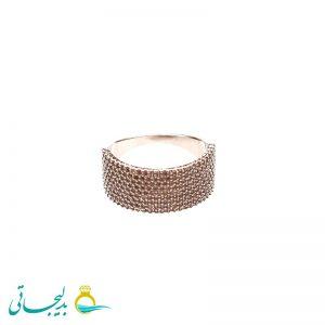 انگشتر نقره ای ساده - کد 3469