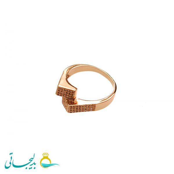 انگشتر طلایی ساده - کد 3464