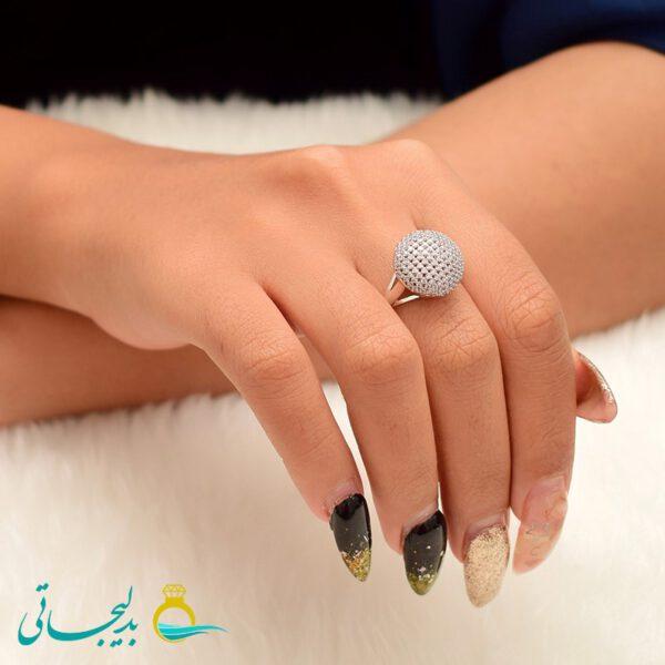 انگشتر نقره ای ساده - کد 3467