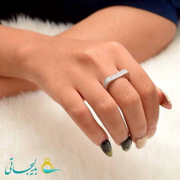 انگشتر نقره ای ساده - کد 3471
