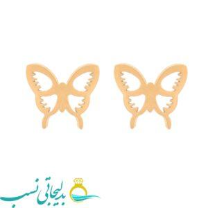 گوشواره میخی پروانه